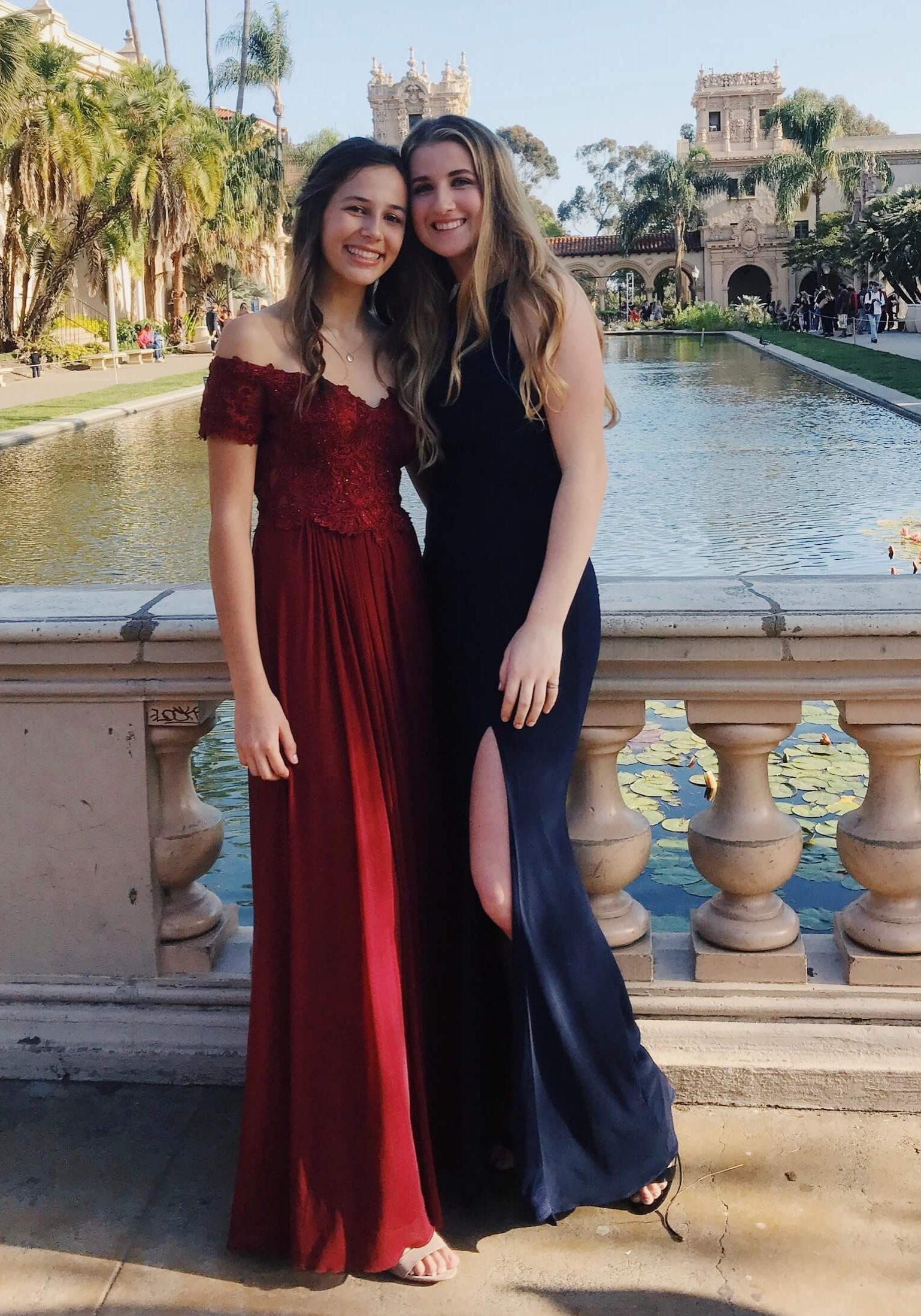 Lily H. (left) Prom 2018